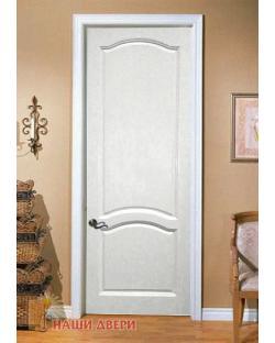 Белые двери из массива